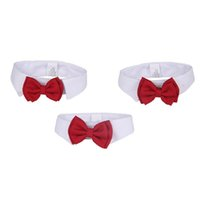 Wholesale accessories for dogs puppies for sale - With Red Bowtie Pet Necktie Lovely Easy To Wear Dog Tie For Wedding Adjustable Puppy Cravat Popular jz BB