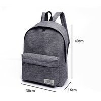 Wholesale backpack middle school - Brand Canvas Men Women Backpack College High Middle School Bags For Teenager Boy Girls Laptop Travel Backpacks Mochila Rucksacks