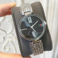 Wholesale black shin - 2018 Brand New model Fashion women watch famous popular wristwatch Retro lady Luxury watches Hot sales stainless steel fashion star shinning
