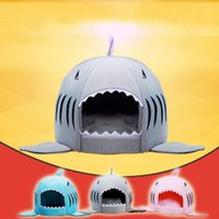 Wholesale Dog House Outdoors - Universal Plush Pet Kennel Washable Shark Mouth Shape Dog Houses Lovely Safety Comfortable Breathable Kennels Non Toxic 58mf5 B
