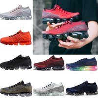Wholesale more dark - 2018 New Luxury Vapormax Mens Women Shoes 14 color optional Fashion Shoe rainbow Wholesale and retail more brands to contact the store