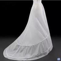 tren de enagua de sirena al por mayor-Enagua de crinolina Venta al por mayor enaguas nupciales para el vestido de boda del tren de barrido más el tamaño de la sirena enaguas Underskirt forro accesorios