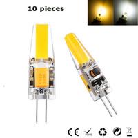 12 24v led glühbirnen großhandel-10x G4 LED Birne AC DC 12-24V 2W LED Lampe 1505 COB warmweiß 3500K weiß 6000K Ersetzen 30W Halogenleuchter