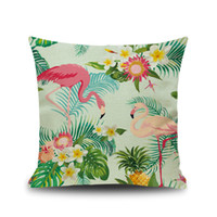 Wholesale kids pillow cases for sale - Group buy 30 STYLE Cartoon Flamingo Style Pillow Case Colorful Birds Leaf Pillow Cover Cute Animal Printing Cushion Cover Kids Gift