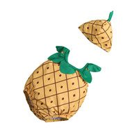 tierförmige kleidung großhandel-Netter Frucht-Tierform-Baby-einteiliger Badeanzug + Badekappe für Baby-Mädchen-Jungen-Sommer-Säuglingskleinkind-Wasser-Sport-Kleidung