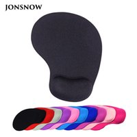 Wholesale silicone mouse pads - JONSNOW Wrister Mouse pad with Gel Wrist Rest Mousepad Gaming Office Black Silicone Gel Mat for Desktop Laptop Non-slip Mise
