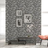 duvar kağıdı tuğla desen toptan satış-DIY Taş Desen 3D Duvar Çıkartmaları Yatak Odası Dekor Köpük Tuğla Odası Dekor Duvar Kağıdı Duvar Oturma Sticker Çocuk Odası