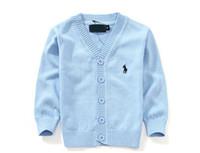 strickjacke kleidung großhandel-Kinder Strickjacke Kinder 100% Baumwolle Strickjacke Mantel Baby Mädchen Pullover Oberbekleidung Kinderkleidung Junge Strickjacke Mantel