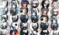 japon karikatürler sıcak toptan satış-Sıcak Satış 48 adet / takım Karikatür Japon anime Tokyo Ghouls Rozetleri 4.5 cm Karikatür Broş Düğme Rozet Pin, Çocuk Parti Hediye X-20
