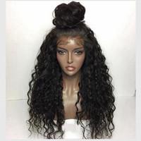 виргинские волосы оптовых-Парик фронта малазийских завитых парики 7 класс малазийского Virgin человеческих волос Glueless Kinky завитого шнурок Lacefront Парик для чернокожих женщин
