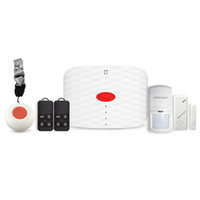 беспроводная дверная сигнализация с дистанционным датчиком оптовых-Wolf-Guard MS1 GSM беспроводной домашней сигнализации безопасности Burgle системы управления App Двери / окна датчик PIR детектор движения брелок пульт дистанционного управления