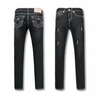 siyah kadın kot pantolon toptan satış-DOĞRU Kadın Siyah Skinny Jeans Tasarım Din Marka Denim Pantolon Ripped Kadın Fit Streetwear Uzun Kalem Pantolon Bayan Giyim Jeans