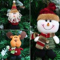 xmas neve bonecos de santa venda por atacado-Decorações de natal Doll Gadgets Ornamentos brinquedos Presente Papai Noel Snow Man Boneca Decorações de Natal Xmas Tree Ornaments
