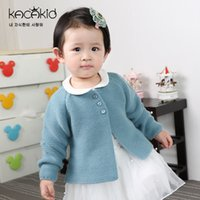 Wholesale baby outer - Kacakid Children Baby Girl Sweater Girls boys Candy Color Knitted Cardigan Kids Long Sleeve O-neck Casual Outer Wear Sweater