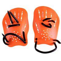 Wholesale Webbed Swimming Gloves - yingfa Pair Orange Rubber Swimming Hand Paddles Webbed Gloves M