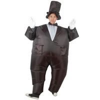 roupas de noivo venda por atacado-Jogo ao ar livre adulto cheio de ar inflável Noivo / Mágico hilário engraçado traje inflável boate festa roupas traje de Halloween