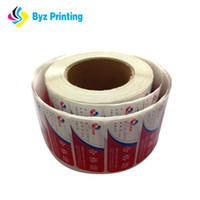 ingrosso adesivi neri-Codici a barre o numeri di serie in bianco stampati personalizzati in nero con adesivi in vinile per l'utilizzo di prodotti elettronici