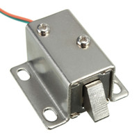 Wholesale 12v solenoid - 12V DC Cabinet Door Drawer Electric Lock Assembly Solenoid Lock 27x29x18mm