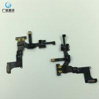 câble flexible à lentille achat en gros de-Porte-bague de caméra de haute qualité avant pour iPhone 5S Face à l'objectif de la caméra à droite Capteur de proximité Câble Flex