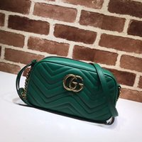 Wholesale skull shaped glitter online - Top Quality Luxury Brand design Letter Metal Buckle V shaped Shoulder Chain Bag Cowhide Leather Woman Crossbody Bag