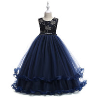 Wholesale picture clothes online - 2 yrs Teenage Clothing Christmas Girl Dress A line Summer Princess Wedding Party Dress Sequins Sleeveless New Year For Girls