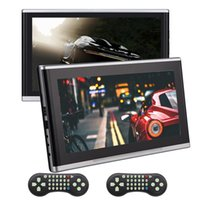 Wholesale portable dvd player cars - Dual 10.1''EinCar Headrest car DVD CD Player 1080P Portable Headrest Multimedia Monitor Backseat USB Player HDMI Port AV Input,Remote 32 Bit