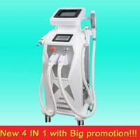 Wholesale portable ipl hair removal machine - New Portable nd yag laser tattoo removal ipl elight electric hair removal machine with wholesale price rf yag laser machines