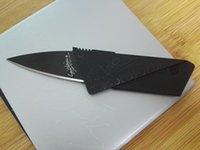 Wholesale Cards Two Folds - cheap card knife folding fruit knife black mini knife