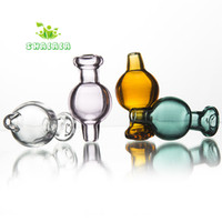 gafas ajustadas al por mayor-Color surtido Burbuja de vidrio Carb Cap Cap OD 20mm Cúpula de cristal Cuarzo Banger Nails con 21.5 mm Tazón Dab Rigs Glass Bongs