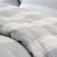 Wholesale pure linen bedding - 3 pcs Yarn Dyed Strip 100% Pure Linen Bedding Sets Waterwash Linen pillowcase duvet cover sheets Free Shipping