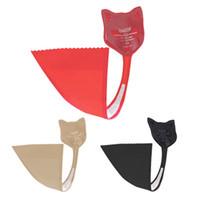 ingrosso bikini invisibile-Mutandine invisibili senza cuciture delle donne Mutandine invisibili sexy calde Mini micro-bikini Sleepwear G-Strings Simpatici slip di mutandine Cat T-back Undewear