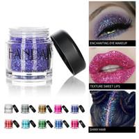brilho de olho solto venda por atacado-10 Cores Glitter Eye Shadow Cosméticos Diamante Lábios Pigmento Maquiagem Solta