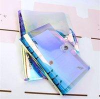 a6 merkzettel großhandel-Dilosbu A6 Spiralblock A7 PVC Abdeckung A5 Binder Papier wasserdicht Journal Tagebuch Schulbedarf Planer Refill wöchentliche Notizblock