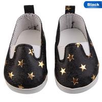 amerikanische puppenschuhe 18 großhandel-Mit Pentagram Mode Weiß Sport Baby Born Dolls passt American Dolls 18 Zoll Stiefel Schuhe für