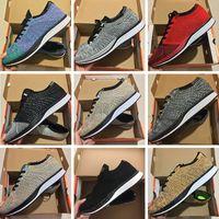 tejidos para negros al por mayor-Nike Flyknit Racer Be True FK  Zoom Mariah Fly Racer 2 Mujeres para hombre Athletic todo negro rojo verde Zapatillas de running Racer Sneaker Trainers Talla 36-45