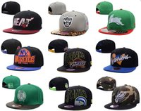 Wholesale Mens Brim Hats - Designer Basketball Football Hockey Team Snapback Sun Cap Flat Brimmed Hats Supply For Mens Womens Hip Hop Adjustable Caps Shipping By DHL