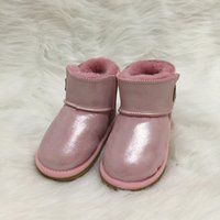 Wholesale new children shoes for sale - NEW boys and girls Australian style warm non slip boots Slip on children ug snow boots brand designer shoes Leather Boots size