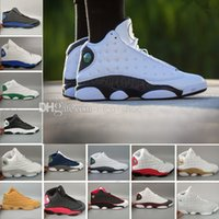Wholesale High Quality Trainers - 2018 New air 13 Love & Respect Man basketball shoes Black white 3M high quality retro 13s Mens sport Trainer Sneaker US 8-13