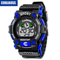 Wholesale Kids Electronic Digital Watch - Mens big children kids boys Wholesale Fashion Sports Cute Watches student LED Digital Watch electronic gift party watch COOLBOSS 1008