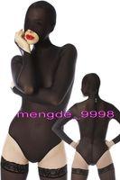 sexy robe courte en spandex noir achat en gros de-Black Spandex Soie Short Catsuit Costumes Unisexe Sexy Costume Court Du Corps Costumes Unisexe Body Fantaisie Robe Party Cosplay Costumes M301
