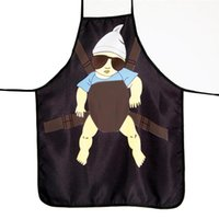 Wholesale grill apron for sale - Group buy LUOEM Novelty Super Daddy Printed Kitchen Apron Funny Cooking Grilling BBQ Apron Brithday Christmas Gifts