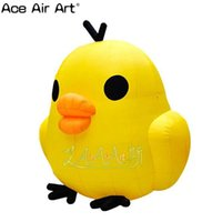 Wholesale model chicken for sale - hot selling inflatable animal decoration large cute yellow inflatable animal cartoon chicken model