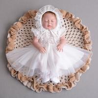 ingrosso bambini del vestito del ragazzo-Vestito da battesimo per neonati per bambini Abiti principessa per bambini Abiti senza maniche estivi per bimbi piccoli 1-30 mesi