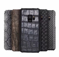 Wholesale Galaxy Note Wood - Croco Wood Vertical Wooden Snake Leather Hard PC Case For Galaxy S9 Note 8 Note8 S8 Plus J510 J710 J310 A710 Carbon Fiber For Moto G4 Plus