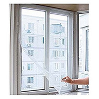 ingrosso volare le tende della porta di rete-Schermo grande finestra bianco Rete Net Insetto Fly Bug Zanzariera Falena Porta rete New Sheer Tende