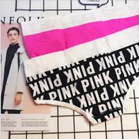 lingeries rosa venda por atacado-Pink Play Briefs Patchwork Contraste Cor 6 pçs / lote Mulheres Algodão Mid Ascensão Calcinha Sexy Lingerie Intimates frete grátis