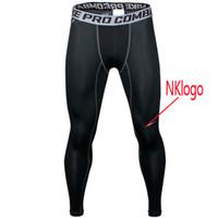 pantalones de correr de fitness para hombres al por mayor-NUEVO 2018 Medias deportivas Pro Combat Basketball Pants Fitness para hombres Pantalones de secado rápido Ejecución Compresión GYM Joggers Skinny Pants