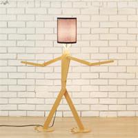 lámparas de pie de noche al por mayor-JW Nueva Lámpara de pie de madera moderna Lámpara de pie de madera minimalista lámpara de pie ajustable para el dormitorio decoración de iluminación de noche