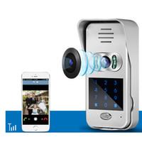 drahtlose türkameras großhandel-720P IP Wifi Türklingel Kamera w / Tastatur Unterstützung sperren Funktion Bewegungserkennung Alarm Wireless Video Türklingel KAMERA IP-Türsprechanlage