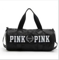 Wholesale large black art canvas - PINK backpack the large waterproof canvas bag yoga gym bag style practical Outdoor routine is applicable